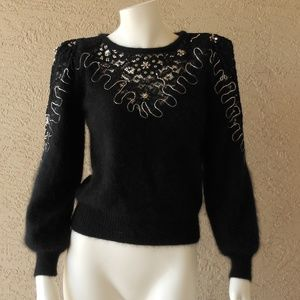 Angora, Lace & Bead Vintage 80's Sweater